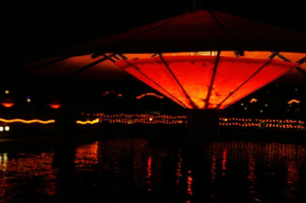 For the love birds - rent a boat and cruise around the small pond in the cosy lighting.