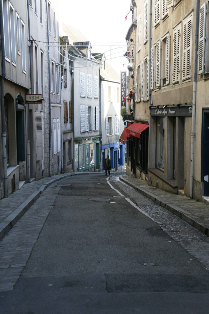The winding streets of Chartres - narrow with a really tiny sidewalk, so watch out for the traffic!