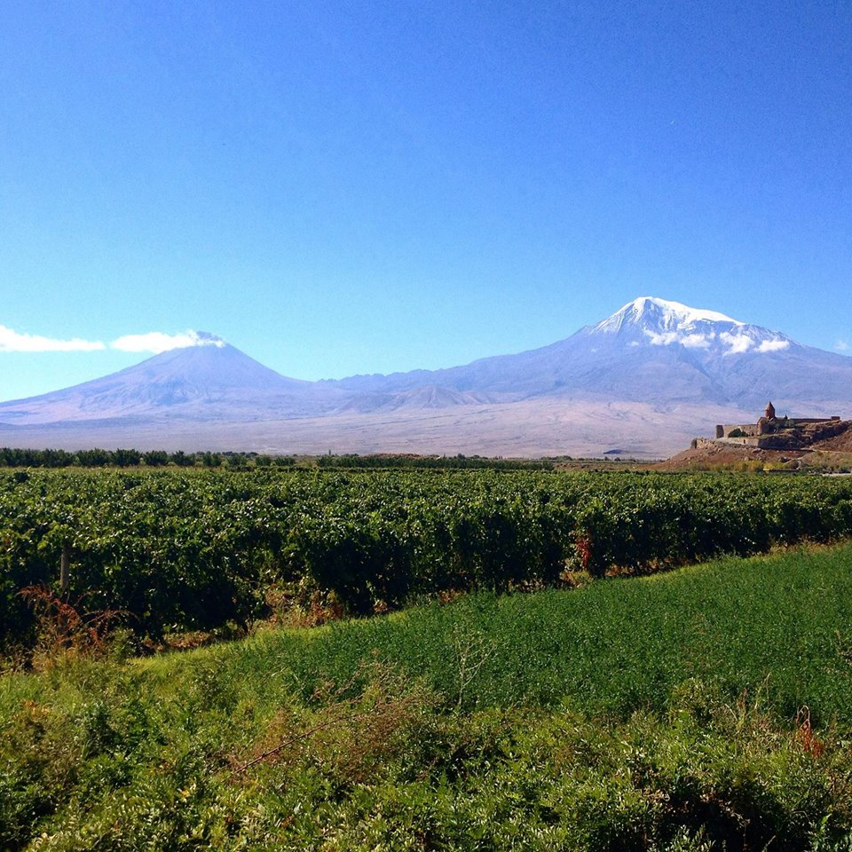 Two symbols of Armenia - Mount Ararat and Khor Virap