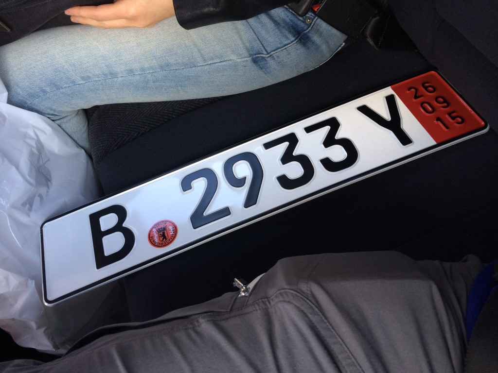 Yes! The license plates with the famous bear of Berlin are secured. Let the adventure begin!