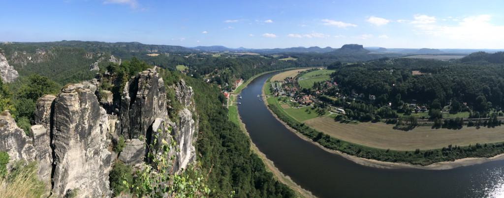 Rocks, Elbe and fields