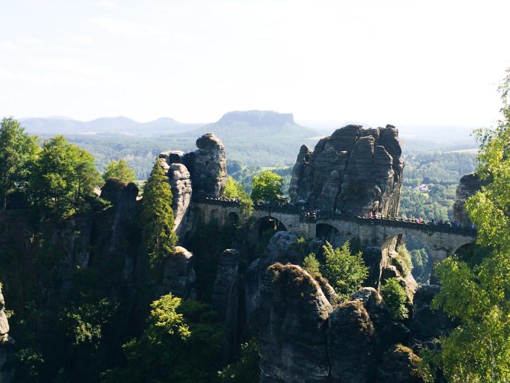 The breathtaking scenery of Sächsische Schweiz
