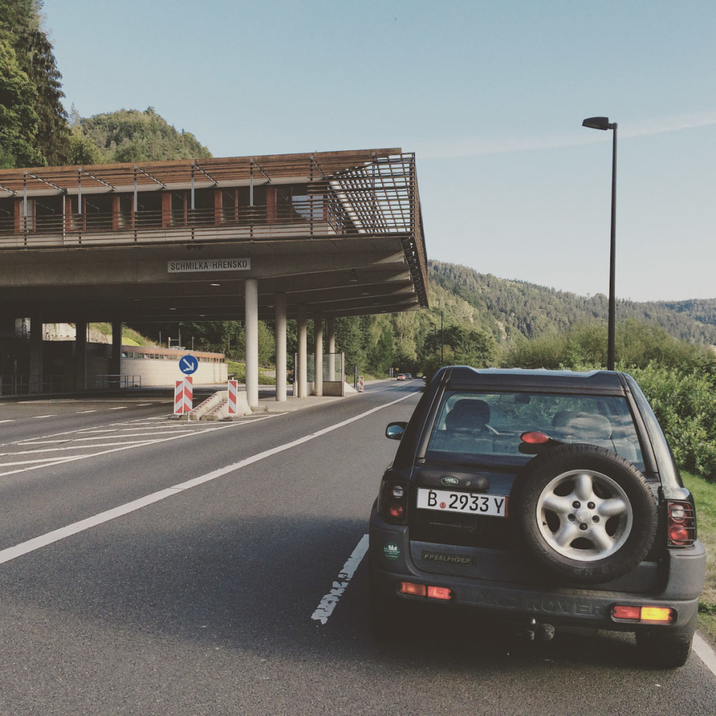 The German-Czech border crossing or what is left from it.
