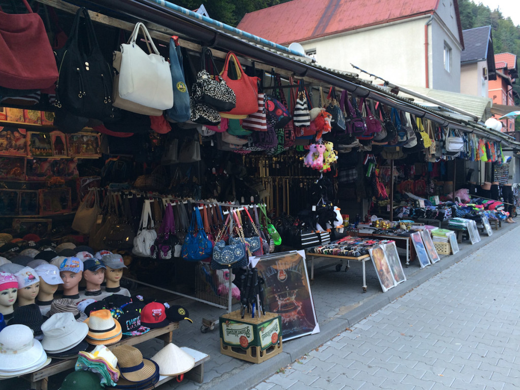 The apparent landmark of Hrensko - the copycat Chinese market.