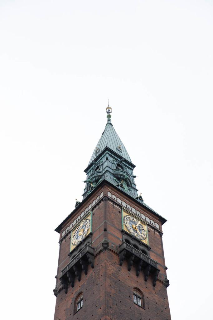 The bell tower of Rådhus - City Hall of København