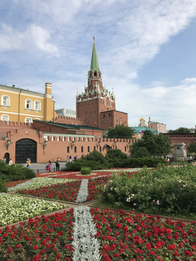 Kremlin area is adorned with beautiful carpets of flowers everywhere