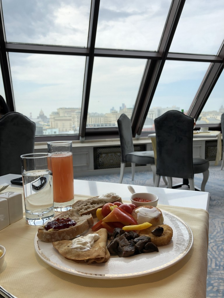 This is what one calls breakfast with view