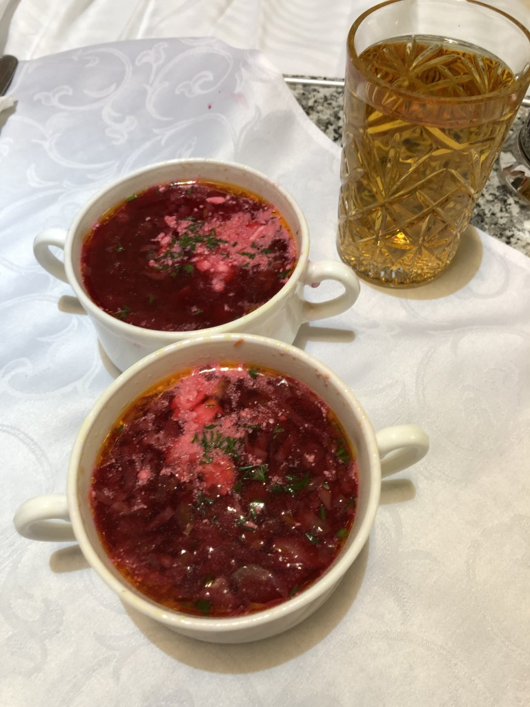 Borsch for dinner - yum!