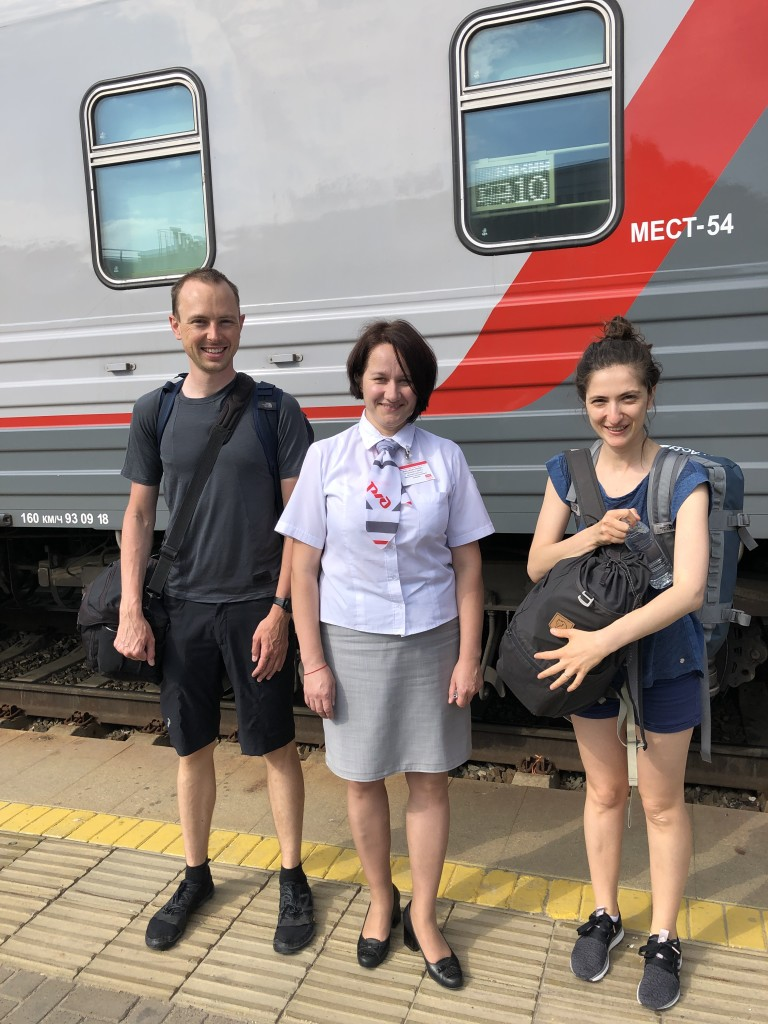 We and the happy train lady