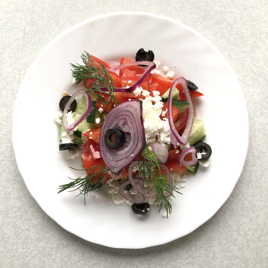 Another train favourite of ours - Greek salad