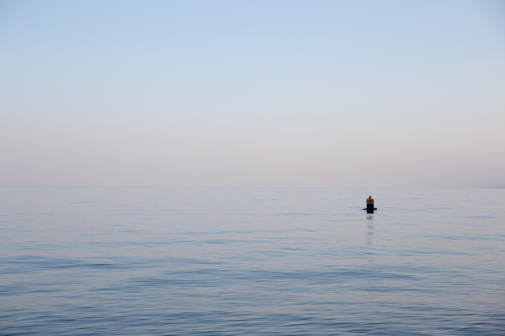 Lake  Baikal  in the setting sun