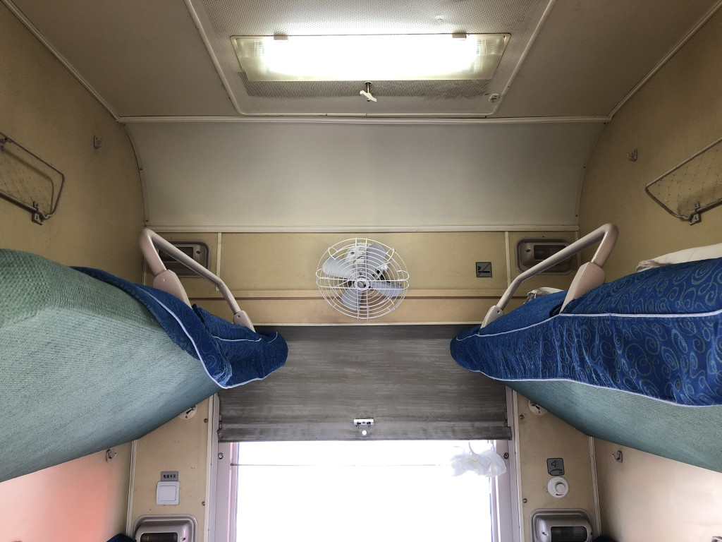 Modernish amenities of Russian trains with more advanced A/C system are out the window.
