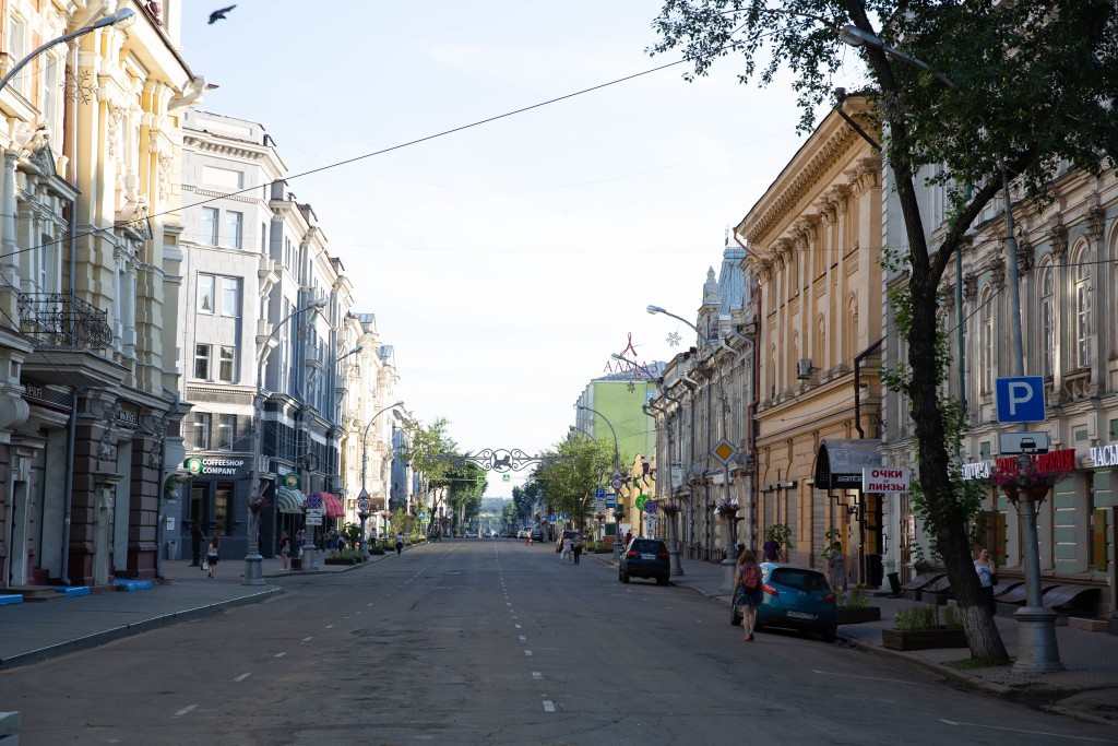 Marx Street - one of the main streets in Irkutsk